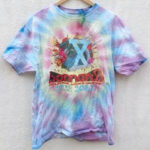 2011 Bonnaroo Music Art Festival Tie Dye Tee Shirt